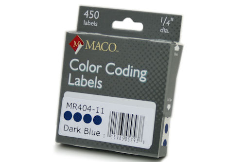 "1/4"" Removable Color Coding Circle Labels"