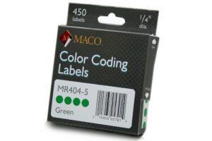 "MACO 1/4"" Color Coding Labels"