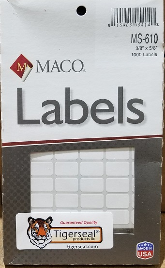 MACO MS 610 Removable Price Labels