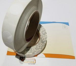 "1"" Diameter White Wafer Seals Mailing Tabs"