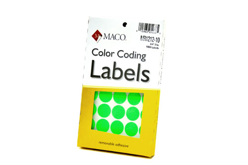 Color Coding Labels
