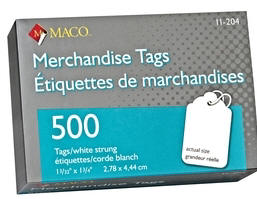 MACO Merchandise Tags Ring Tags Sold Tags Inventory Tans
