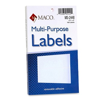 MACO White Removable Price Marking Labels