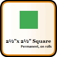 "2-1/2"" x 2-1/2"" Color Coding Squares"