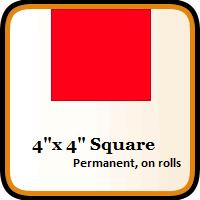"""4"""" x 4"""" Color Coding Squares"""