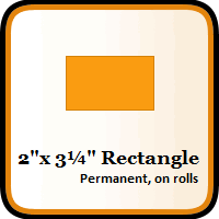 """2"""" x 3-1/4"""" Color Coding Rectangles"""