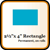 "2-1/2"" x 4"" Color Coding Rectangles"