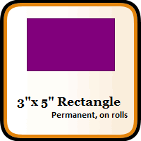 "3"" x 5"" Color Coding Rectangles"