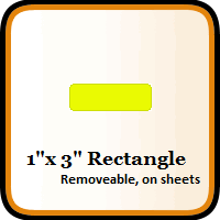 """1"""" x 3"""" Color Coding Rectangles"""