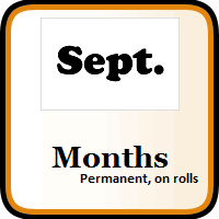 Month Color Coding Labels