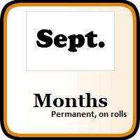 Month Color Coding Labels