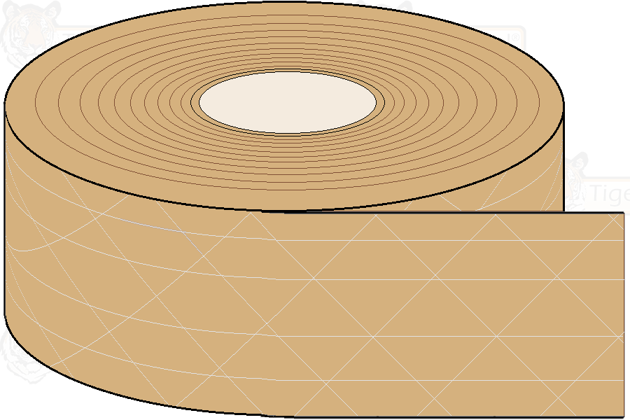 Reinforced Gummed Tape - Brown